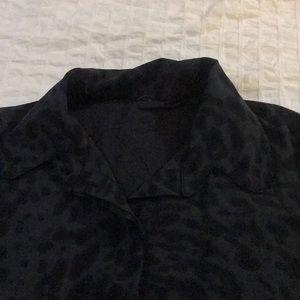 lululemon athletica Tops - Rare Lululemon leopard patterned work blouse
